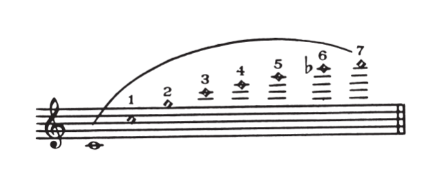Flute Overtone Series