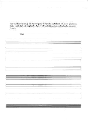 Composition Assignment - Rough Draft Staves