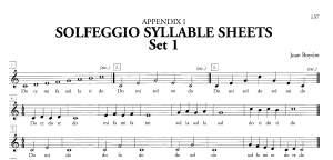 Boytim Solfeggio Syllable Sheet - Set 1 Sample