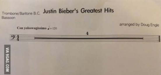 Justin Beiber's Greatest Hit!